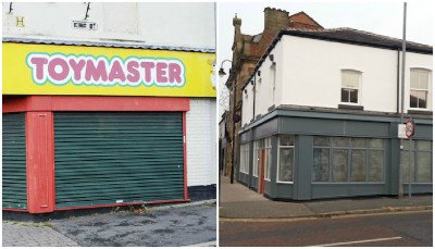 Former Toymaster and the new shop/restaurant