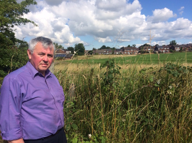 Councillor David Wilkinson at Lee Hall