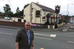 Councillor David Wilkinson at the Molyneux Road / Bolton Road junction