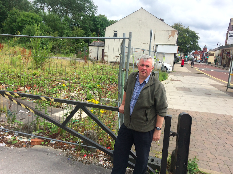 David Wilkinson at the Gaiety snooker hall site