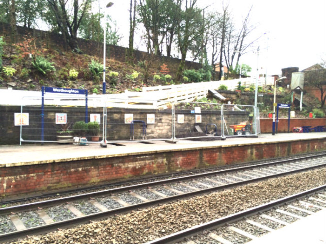 New shelters at Westhoughton railway station