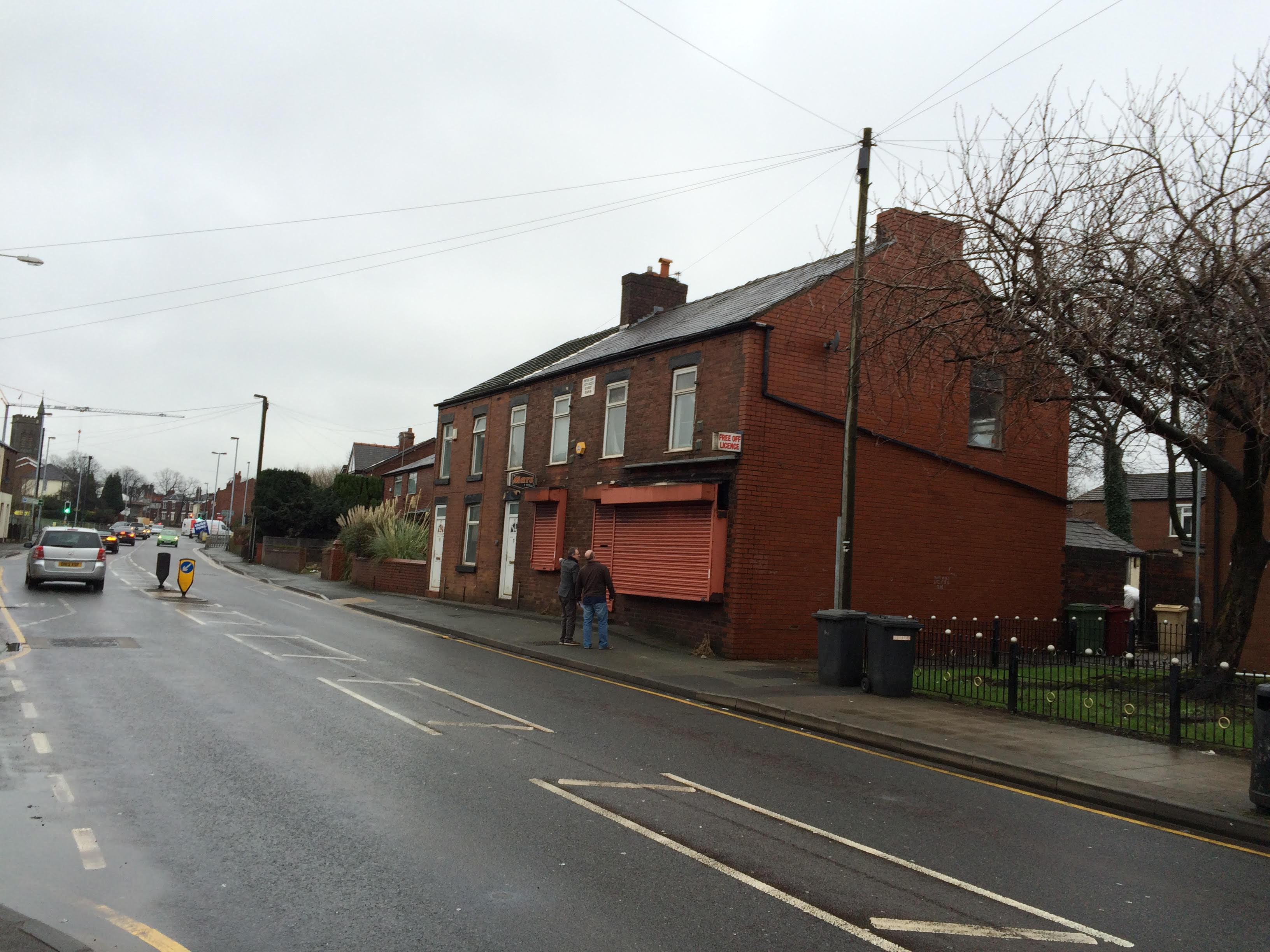 The houses on Wigan Road are being converted into bedsits
