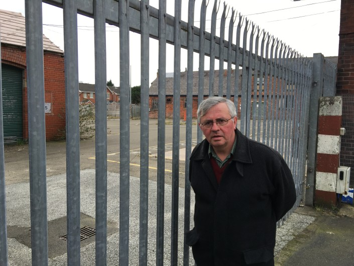 David Wilkinson at the former council yard on Park Road