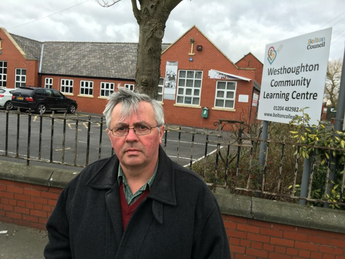 Councillor David Wilkinson at Westhoughton's community centre