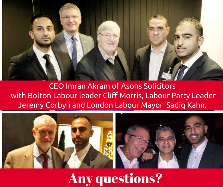 Asons CEO Akram parties with Labour's Cliff Morris, Jeremy Corbyn and Sadiq Khan