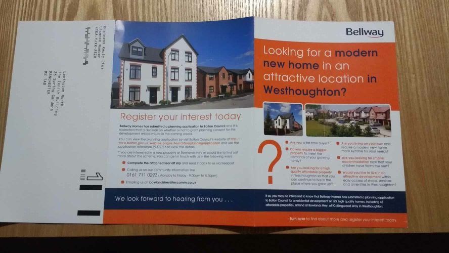 Bellway Homes leaflet
