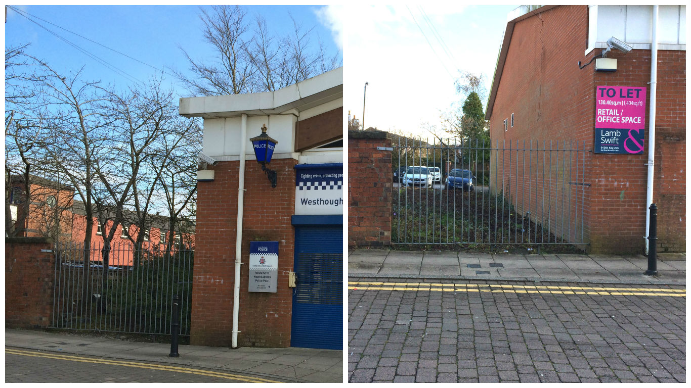 Before and after of the trees at site of new Costa