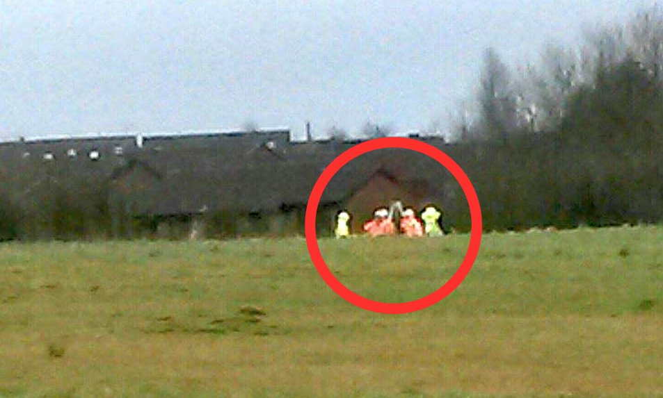 Workmen caught on camera at Bowlands Hey