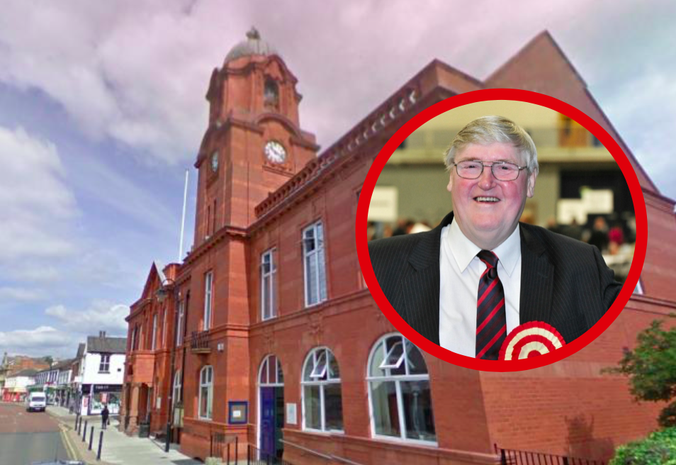 Westhoughton Town Hall and Cliff Morris