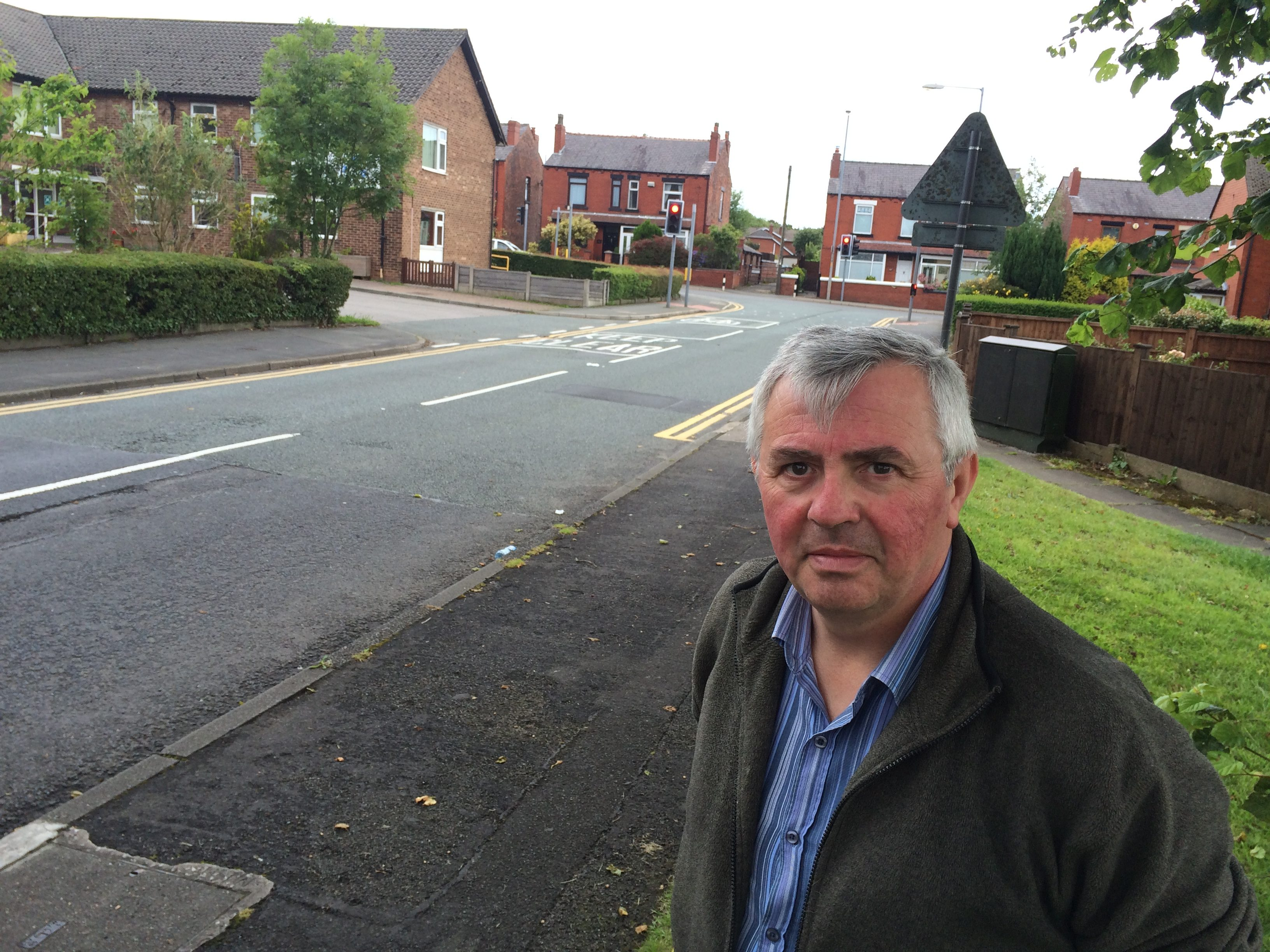 Councillor David Wilkinson on Washacre