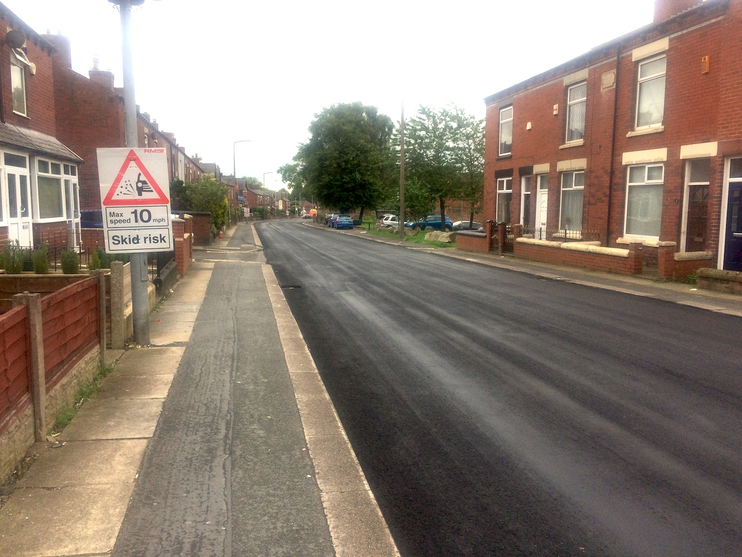 New road surface at Park Road