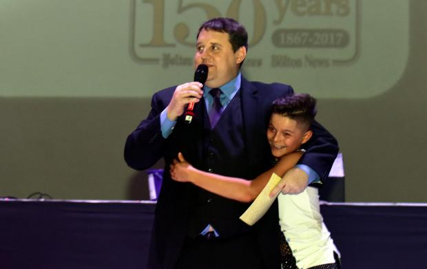 Jaiden Sayer with Peter Kay