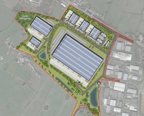 Proposed Wingates logistics site